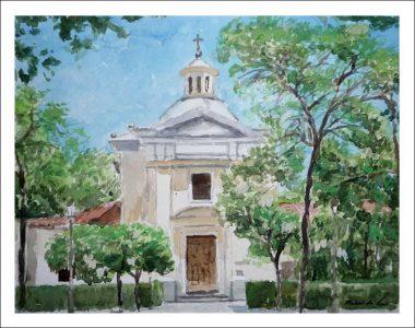 Acuarela de la ermita de San Antonio de la Florida, Madrid