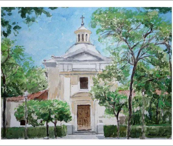 Ermita de San Antonio de la Florida, Madrid. Acuarela