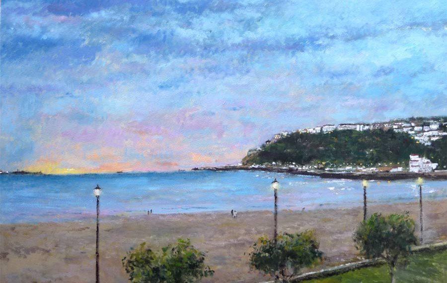 Cuadro de la playa de Ereaga, Getxo, Vizcaya.