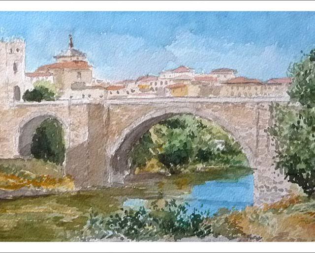 Cuadro del puente de San Martín en Toledo.