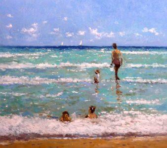 Mañana en la playa | Cuadro al oleo