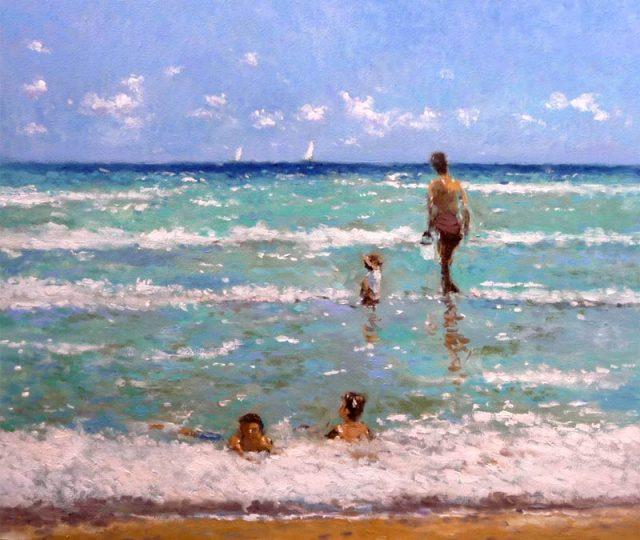 Cuadro de una playa de Alicante