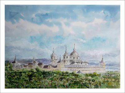 Cuadro del Monasterio de San Lorenzo del Escorial | Madrid.