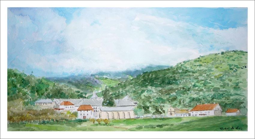 Cuadro de un paisaje de Roncesvalles, Navarra.