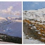 Dos paisajes de Sierra Nevada, Granada pintados al oleo