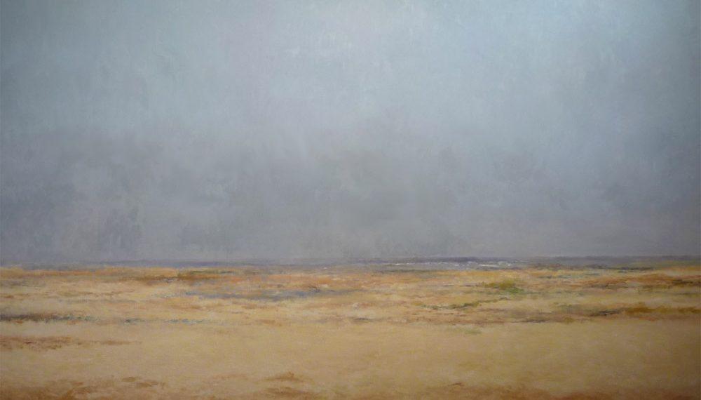 Paisaje al oleo de campos de Castilla