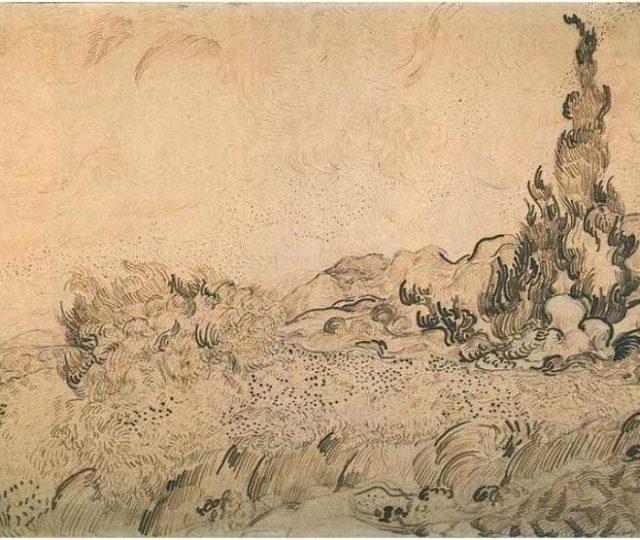 Boceto previo de Vincent Van Gogh
