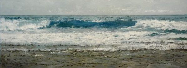 Marina al oleo del Mar Cantábrico.