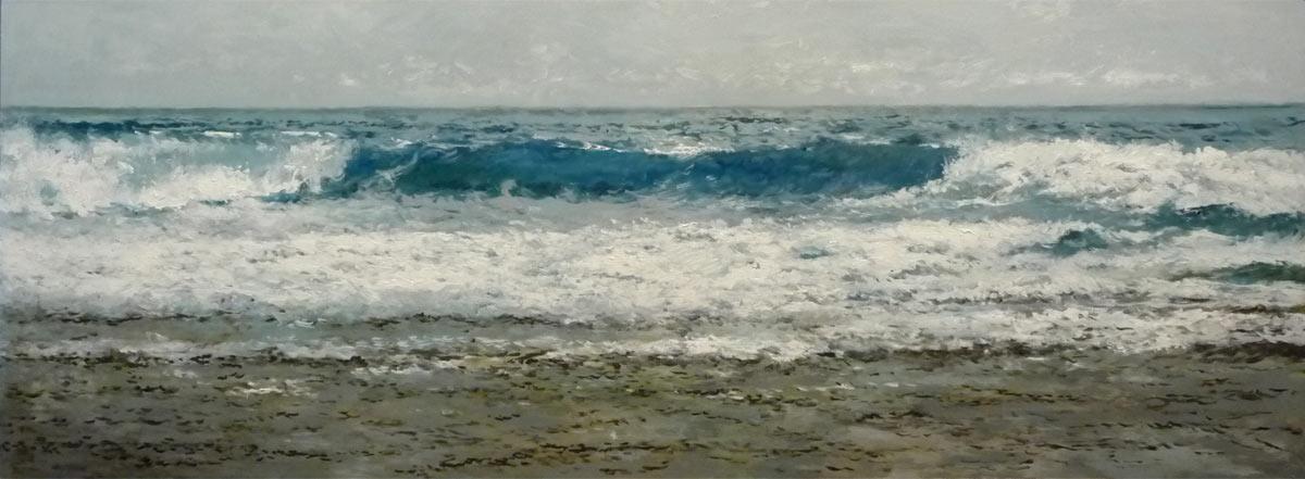 Marina al oleo. Mar Cantábrico.