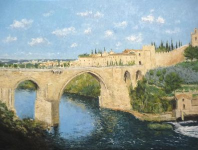 El Puente de San Martín , Toledo | Cuadro al oleo