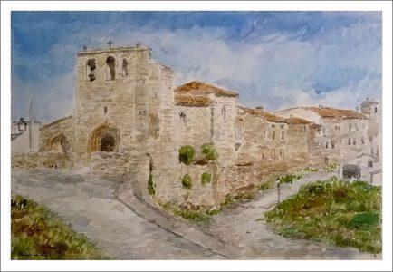 Paisaje de el pueblo de Haza, Burgos