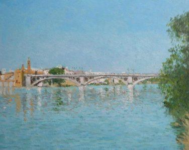 El Puente de Triana, cuadro al oleo