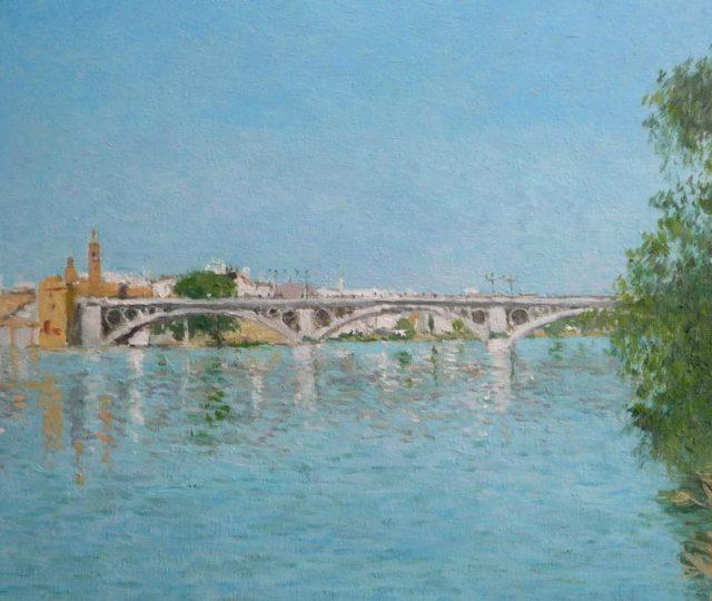 Cuadro al oleo del Puente de Triana en Sevilla