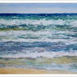 Azul Mediterráneo, marina en acuarela