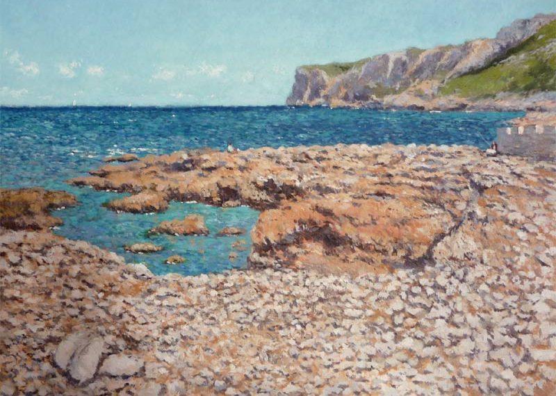 Playa de Les Rotes, Dénia, Alicante. 92x65 cms. Oleo sobre lienzo.
