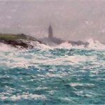 La Torre de Hércules con temporal marítimo