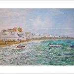 Barcas en la playa de la Caleta, Cádiz