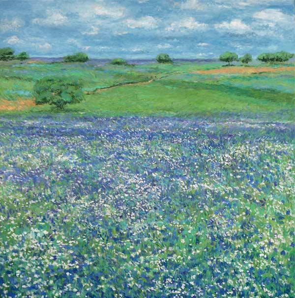 Paisajes de flores pintados al oleo y acuarela por Rubén de Luis