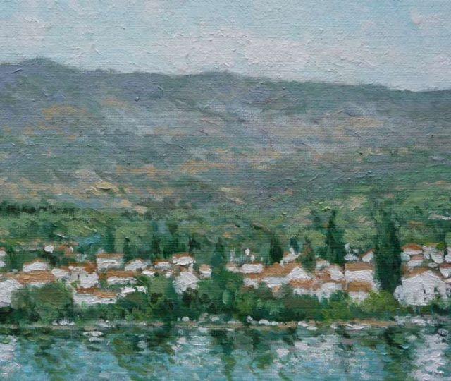 Paisaje de Pinilla del Valle, Madrid. Cuadro al oleo.