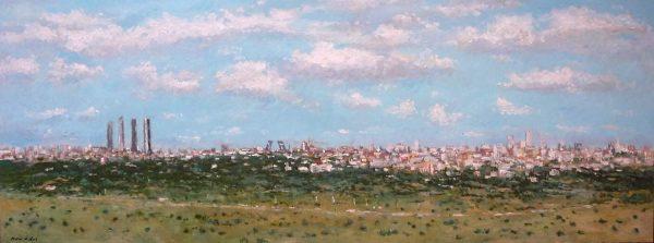 Panorámica de Madrid al oleo