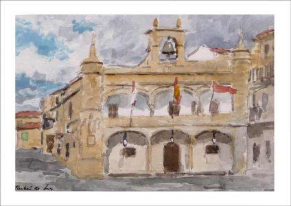 Acuarela de Ciudad Rodrigo, Salamanca