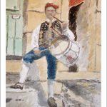 Charro de Salamanca con flauta y tamboril