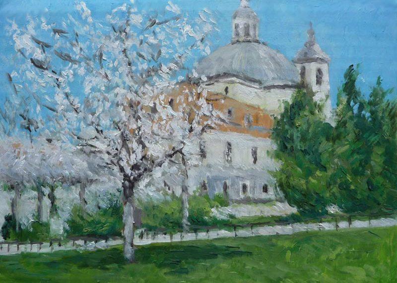 Oleo de la Real basílica de San Francisco el Grande, Madrid.