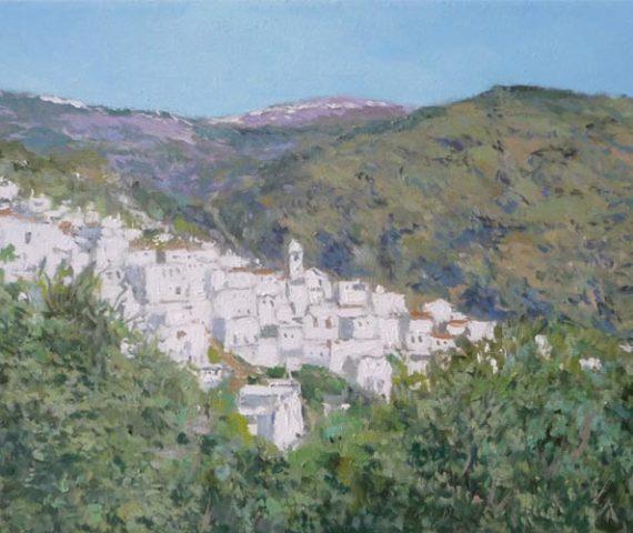 Cuadro al oleo de un paisaje de la Alpujarra en Granada