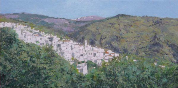 Cuadro al oleo de un paisaje de la Alpujarra de Granada