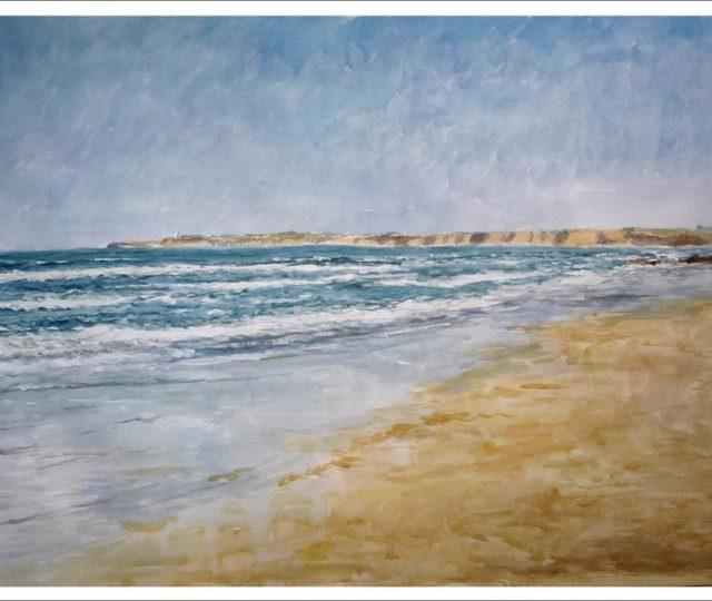 Playa de Conil de la Frontera. Cádiz. Acuarela
