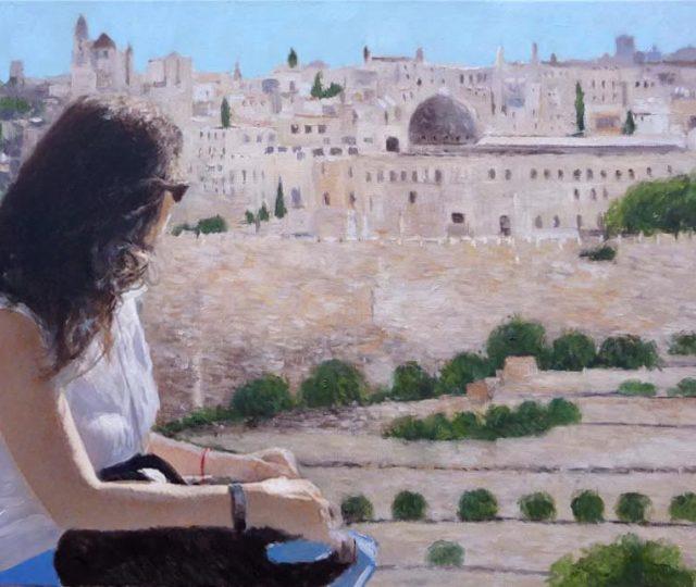 Retrato al oleo de un recuerdo de viaje