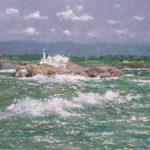 Mar embravecida en la isla de Mouro