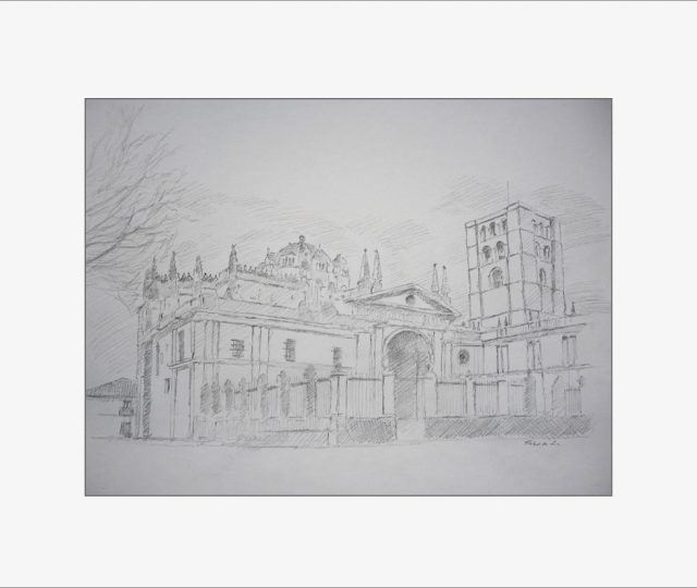 Dibujo de la Catedral de Zamora