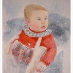 Retrato en acuarela de una niña por encargo