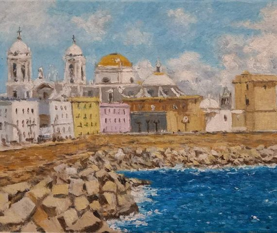 Cuadro al oleo de Cádiz