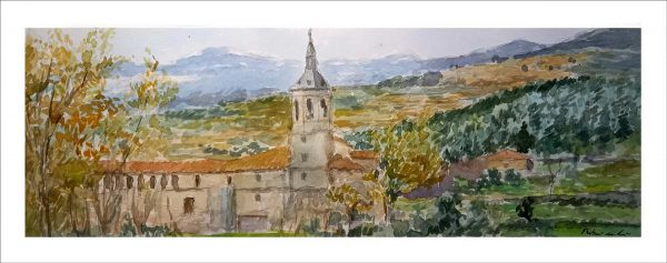 Acuarela del Monasterio de Yuso, La Rioja