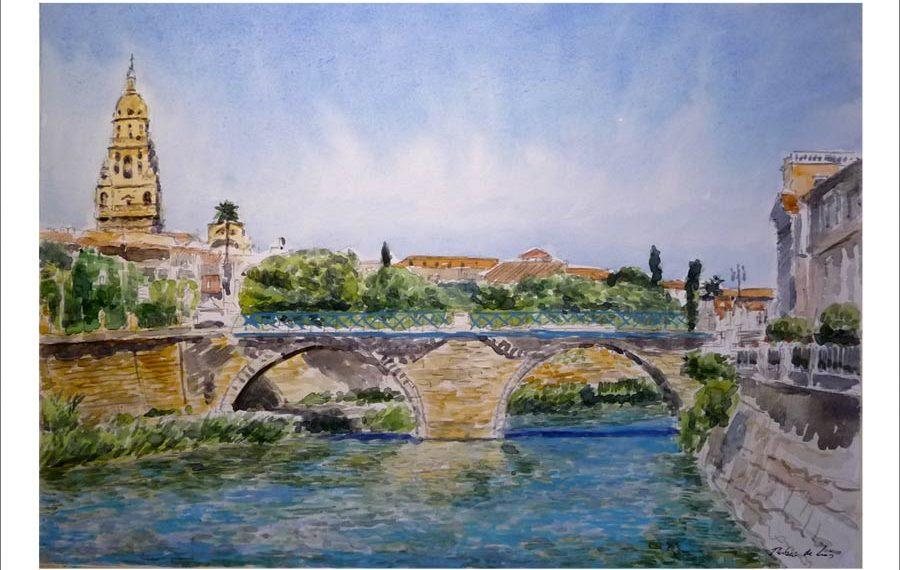 Acuarela del puente de los Peligros, Murcia