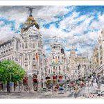 Cuadro de la Gran Vía de Madrid
